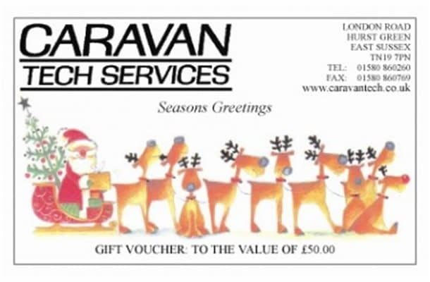 Caravan Tech Christmas voucher 15