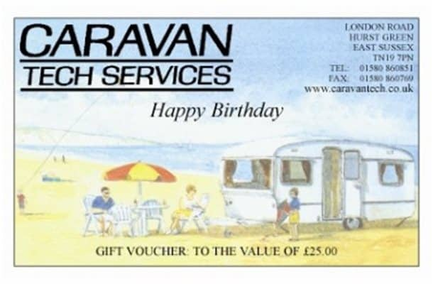 Caravan Tech Birthday voucher 50