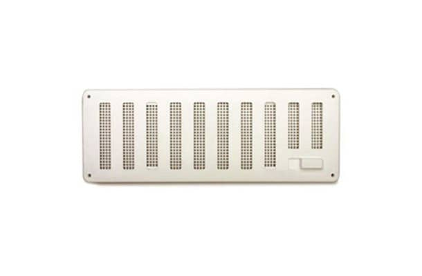 White Hit & Miss Sliding Vent with Flyscreen