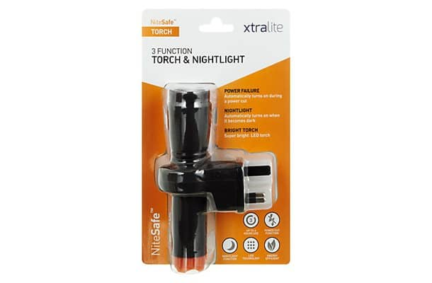 3 function rechargeable torch and nightlight