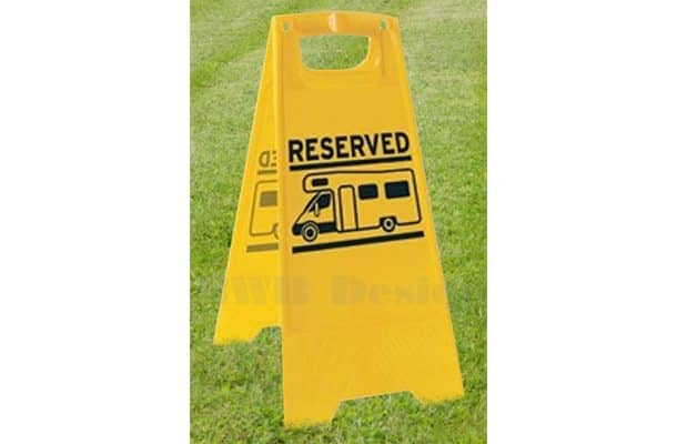 Motorhome / Camper Reserved Pitch Sign