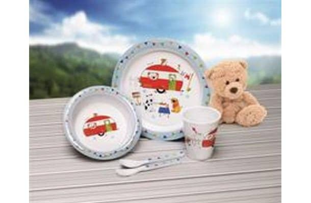 Flamefield Charlie and Friends 5-piece Childrens Melamine Set