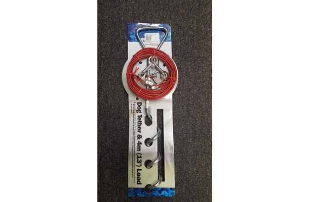 Dog Tether & 4M (13') Lead
