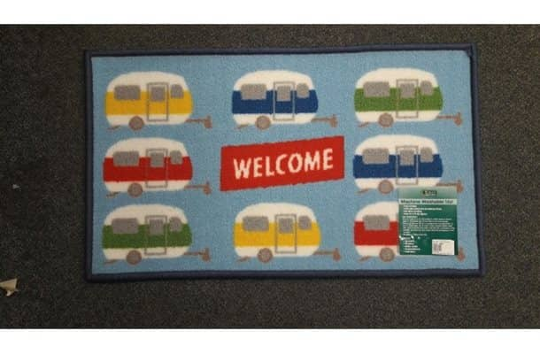 welcome caravan mat