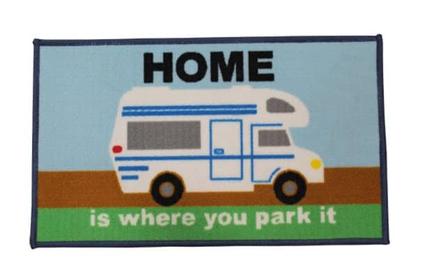 home is where you park it motorhome mat
