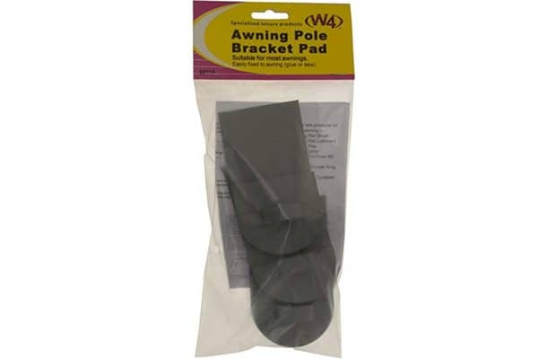 Awning pole bracket pad