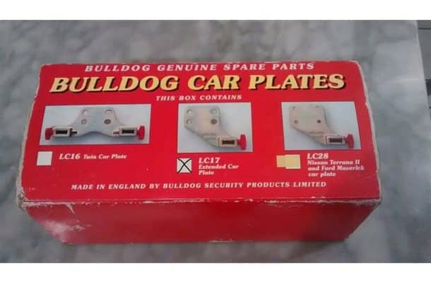 Bulldog LC17 Extended Car Plate
