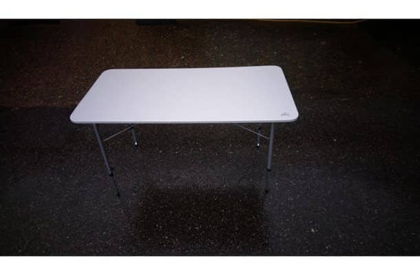 Via Mondo Grey Folding Table 120 x 60 x 50/69 Camping