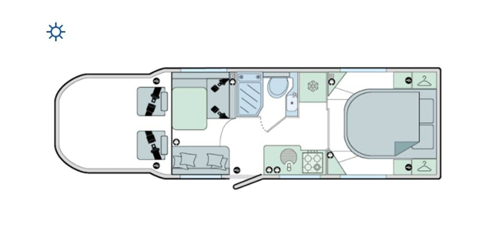 Floorplan of the Bailey Autograph 79-4I 2021