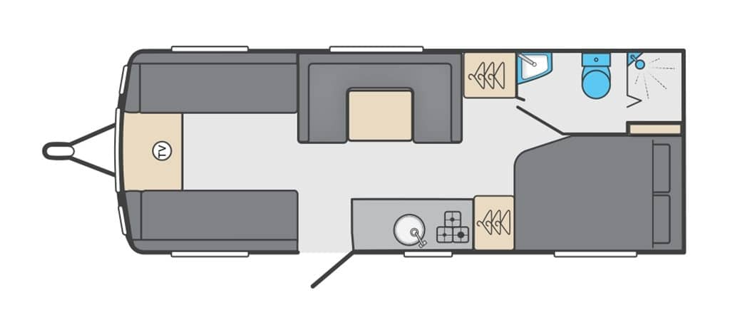 Floorplan of the Swift Sprite Super Quattro FB 2021