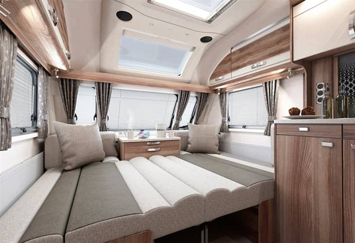 An image of the living / bed area in the Swift Challenger X 835 AL