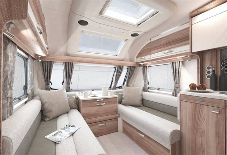 A view of the kitchen area in the Swift Challenger X 835 AL