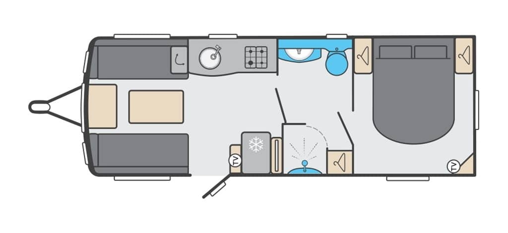 Floorplan of the Swift Challenger X 835 AL 2021
