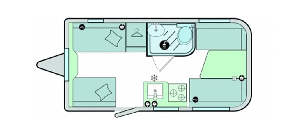 Floorplan of the Bailey Discovery D4-3 2021